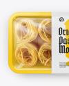 Plastic Tray With Pasta Mockup