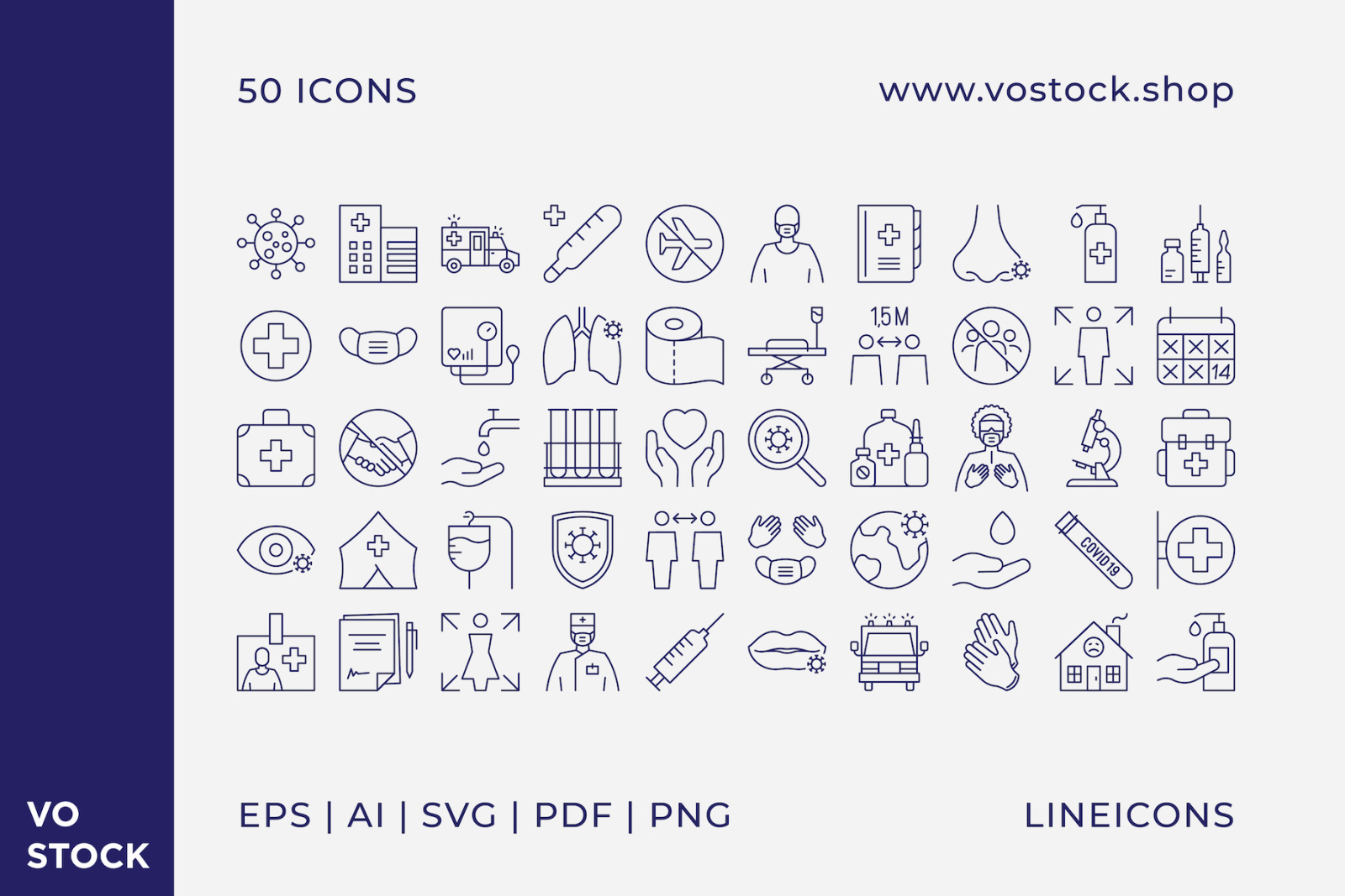 50 Pandemic Icons