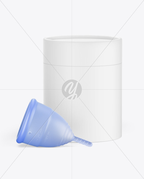 Menstrual Cup with Tube Mockup