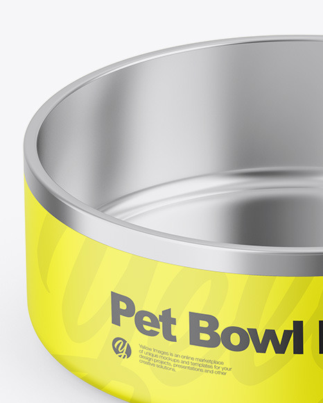 Matte Pet Feeding Bowl Mockup