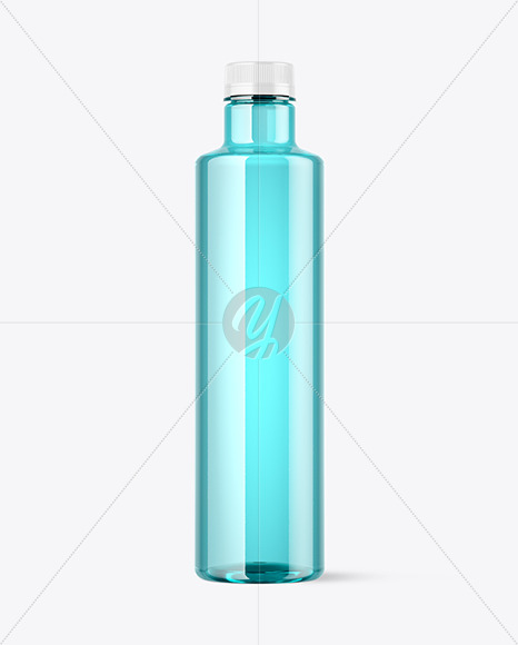 Colored Plastic Bottle Mockup