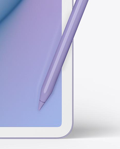 Clay Apple iPad Pro w/ Pen Mockup