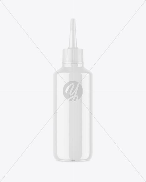 Glossy Plastic Bottle w/ Spout Cap Mockup
