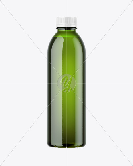 Green Plastic Bottle Mockup