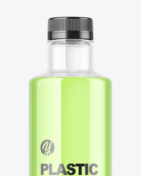 Clear Plastic Drink Bottle Mockup