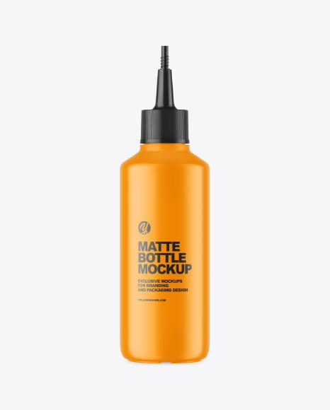 Matte Plastic Bottle w/ Spout Cap Mockup