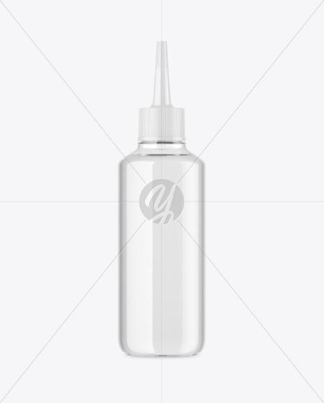 Clear Plastic Bottle w/ Spout Cap Mockup