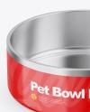 Glossy Pet Feeding Bowl Mockup