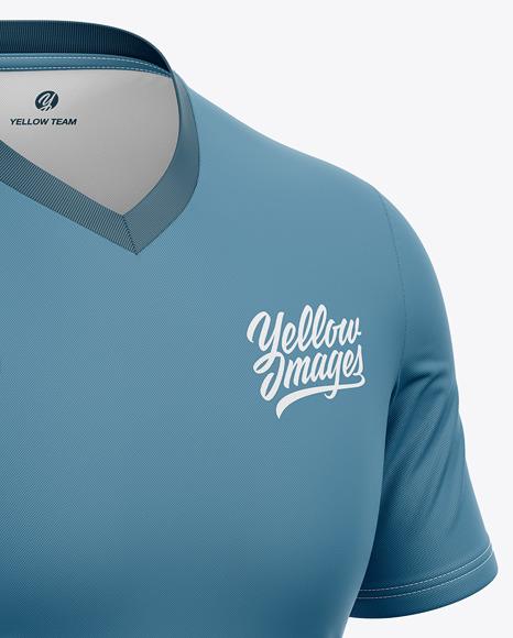 V-Neck Soccer Jersey Mockup