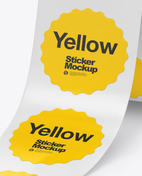 Roll with Stickers Mockup