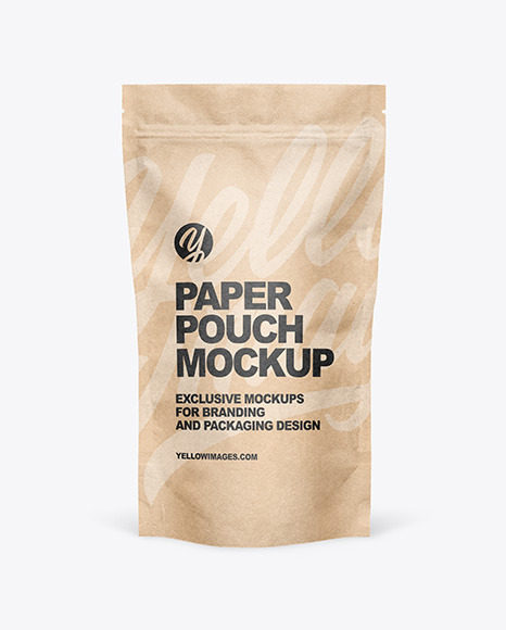 Kraft Paper Stand Up Pouch Mockup
