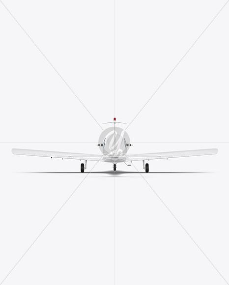 Aircraft - Back View - Yellowimages Mockups