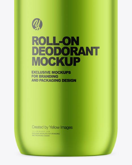 Metallic Roll-On Deodorant Mockup