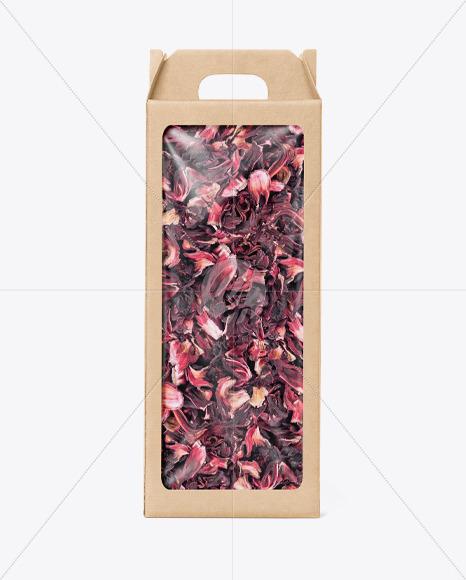 Kraft Box with Flower Tea Mockup