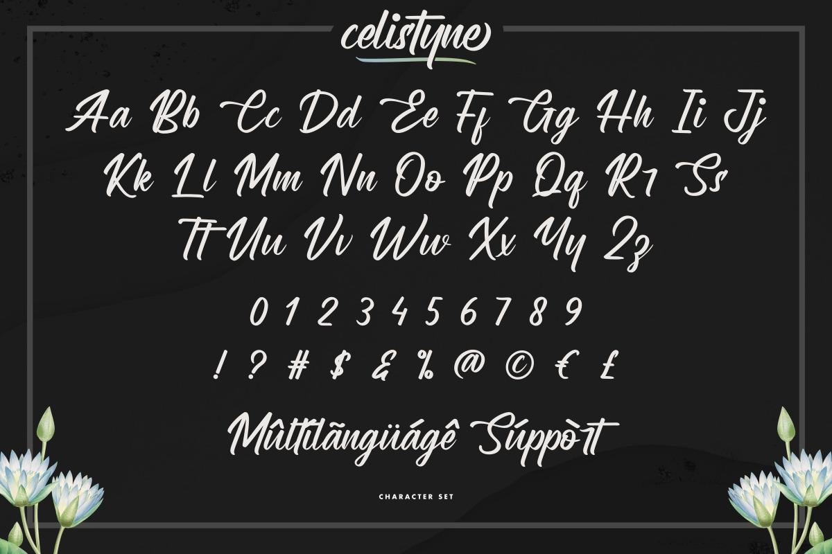 Celistyne Calligraphy Font