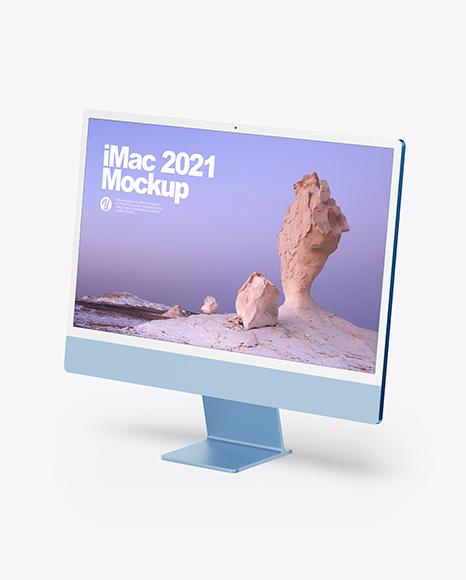 All colors iMac 2021 Mockup