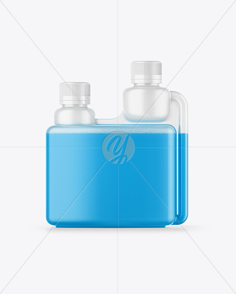 Glossy Dosing Bottle Mockup - Front View