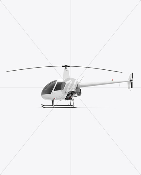 Helicopter Mockup - Side View - Yellowimages Mockups