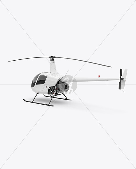 Helicopter Mockup - Back Half Side View - Yellowimages Mockups