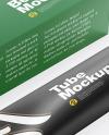 Textured Box w/ Glossy Cosmetic Tube Mockup