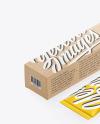 Kraft Box w/ Matte Metallic Cosmetic Tube Mockup