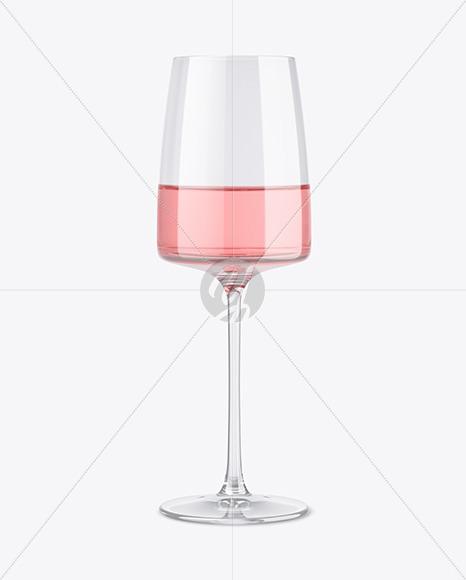 Pink Wine Glass Mockup