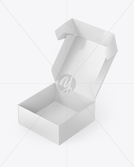 Opened Glossy Paper Box Mockup