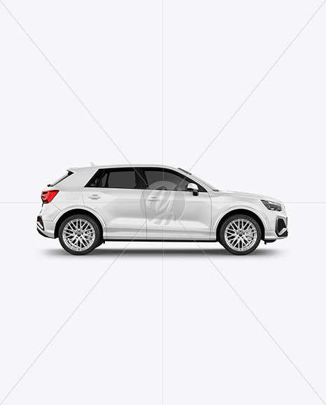 Luxury Crossover SUV - Side View - Yellowimages Mockups