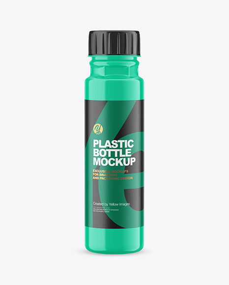 250ml Glossy Acrylic Paint Bottle Mockup