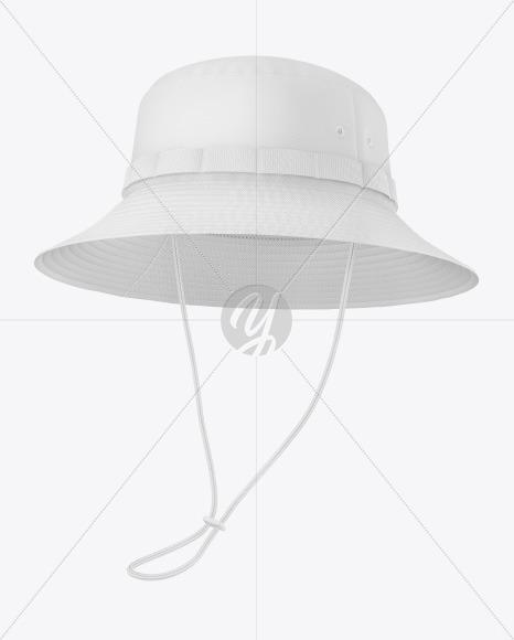 Bucket Hat with Wide Brim Mockup