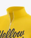 Men's Zip Sweatshirt Mockup - Front Half Side View