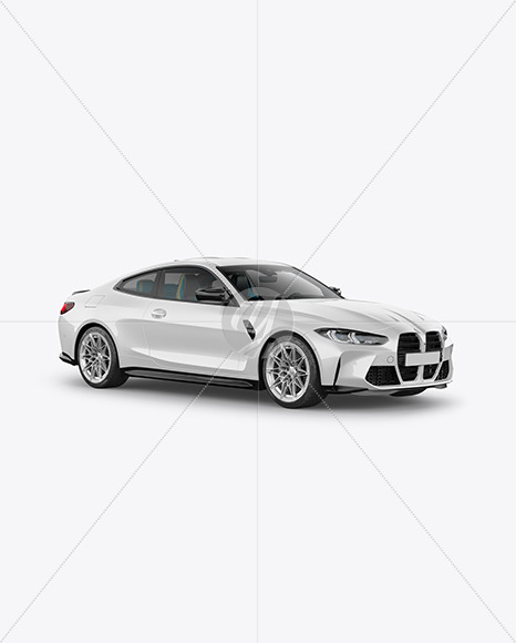 Compact Executive Car - Half Side View - Yellowimages Mockups