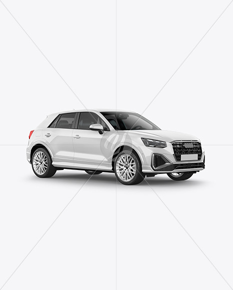 Luxury Crossover SUV - Half Side View - Yellowimages Mockups