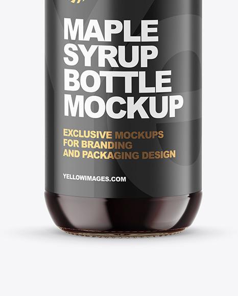 Maple Syrup Bottle Mockup