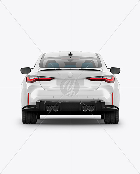 Compact Executive Car - Back View - Yellowimages Mockups
