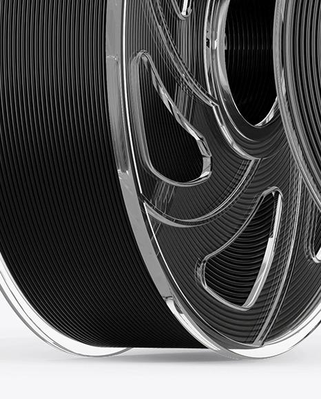 Two Transparent Filament Spool Mockup