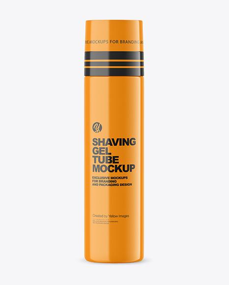 Glossy Shaving Gel Tube Mockup