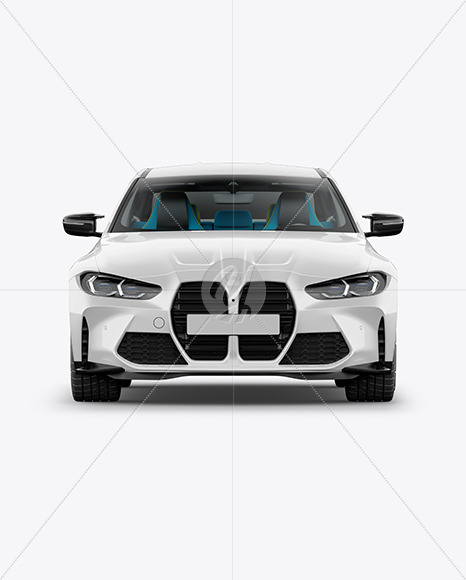 Compact Executive Car - Front View - Yellowimages Mockups