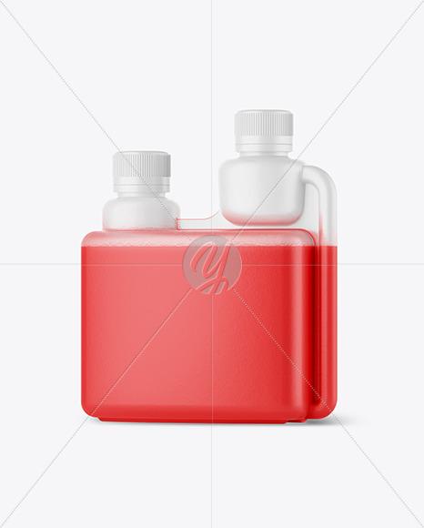 Matte Dosing Bottle Mockup - Half Side View