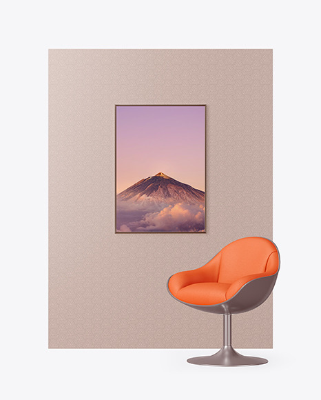 Photo Frame on the Wall Mockup