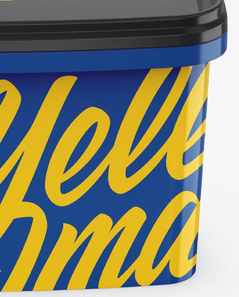 10L Glossy Paint Bucket Mockup