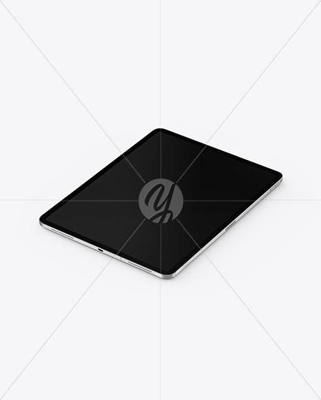 iPad Pro Silver Mockup