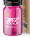 Colored Glass Dropper Bottle w/ Kraft Box Mockup