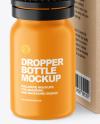 Matte Dropper Bottle w/ Kraft Box Mockup