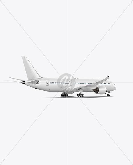 Boeing 787 Dreamliner Mockup - Back Half Side View - Yellowimages Mockups