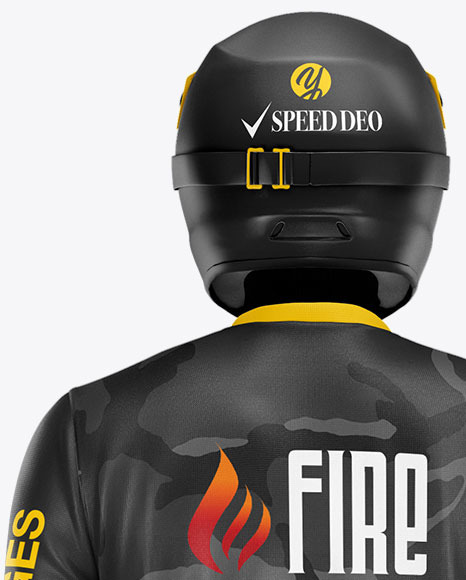 Motocross Racing Kit Mockup - Back View