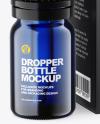 Blue Glass Dropper Bottle w/ Box Mockup