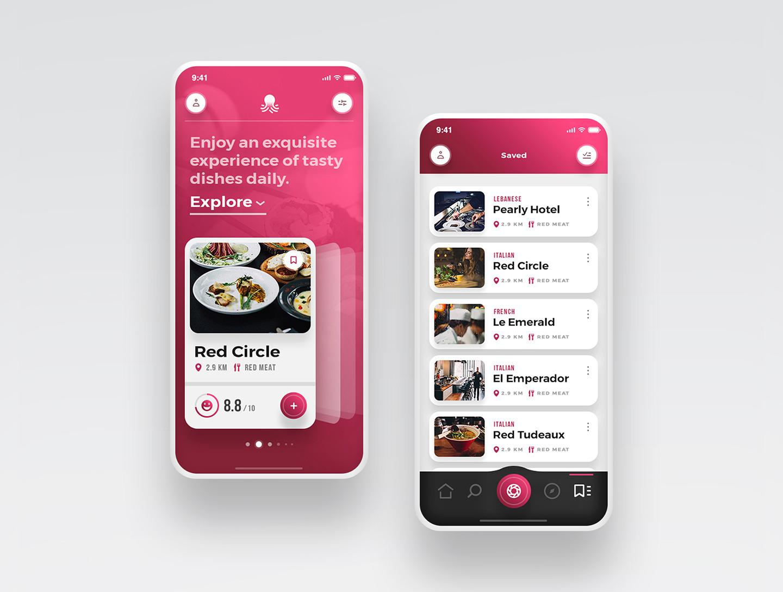 Scarlett - Tasteful Restaurant App UI Kit