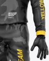Motocross Racing Kit Mockup - Front Half Side View