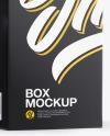 Clear Glass Dropper Bottle w/ Paper Box Mockup